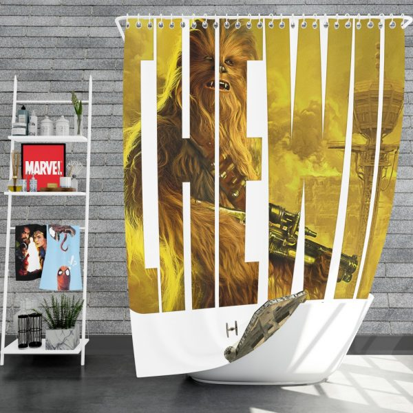 Solo A Star Wars Story Movie Chewbacca Star Wars Shower Curtain