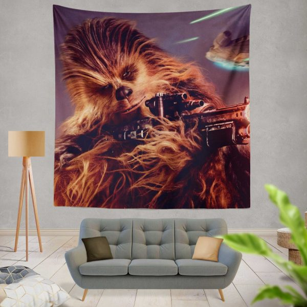 Solo A Star Wars Story Movie Chewbacca Wall Hanging Tapestry