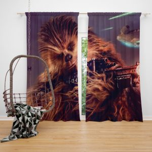 Solo A Star Wars Story Movie Chewbacca Window Curtain