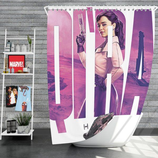 Solo A Star Wars Story Movie Emilia Clarke Qira Star Wars Shower Curtain