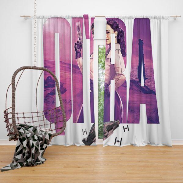 Solo A Star Wars Story Movie Emilia Clarke Qira Star Wars Window Curtain
