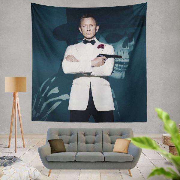 Spectre Movie Daniel Craig Wall Hanging Tapestry