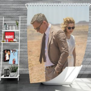 Spectre Movie James Bond Daniel Craig Madeleine Swann Lea Seydoux Shower Curtain