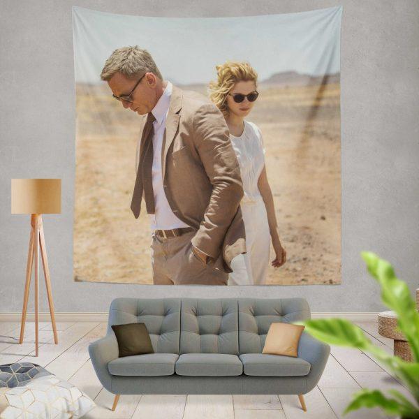 Spectre Movie James Bond Daniel Craig Madeleine Swann Lea Seydoux Wall Hanging Tapestry