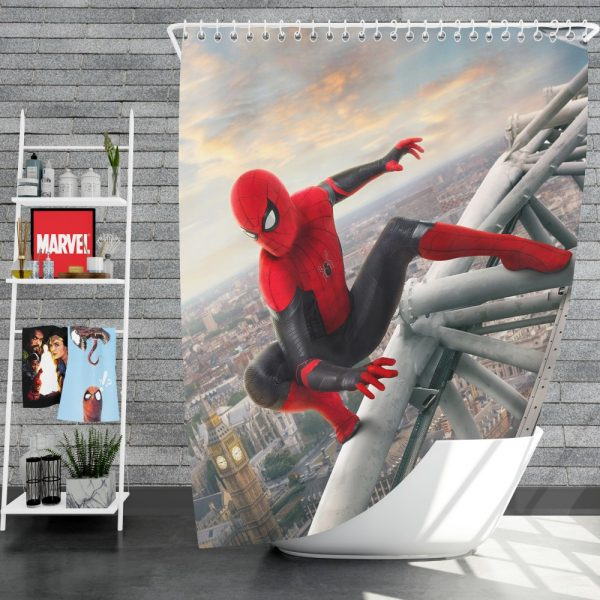 Spider-Man Far From Home Movie Marvel Shower Curtain