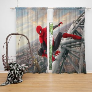 Spider-Man Far From Home Movie Marvel Window Curtain