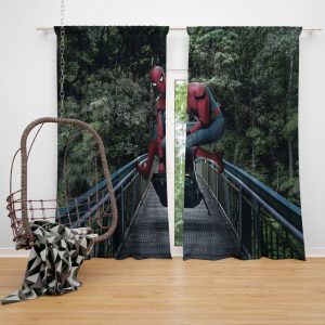 Spider-Man Homecoming Movie Window Curtain