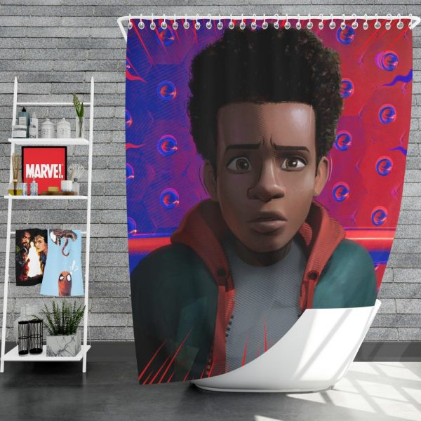 Spider-Man Into The Spider-Verse Movie Avenger Spider Universe Shower Curtain