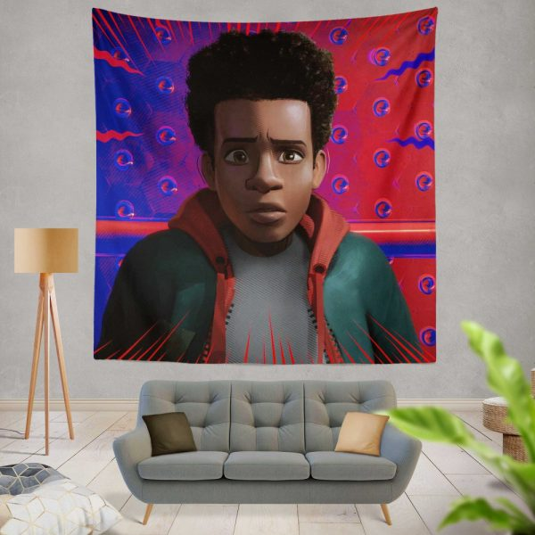 Spider-Man Into The Spider-Verse Movie Avenger Spider Universe Wall Hanging Tapestry