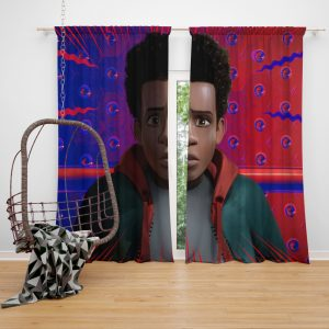Spider-Man Into The Spider-Verse Movie Avenger Spider Universe Window Curtain