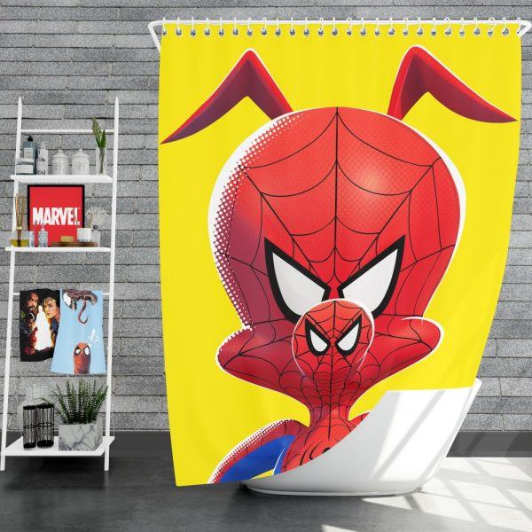 Spider-Man Into The Spider-Verse Movie Kids Shower Curtain