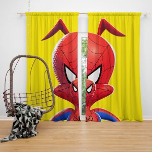 Spider-Man Into The Spider-Verse Movie Kids Window Curtain