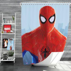 Spider-Man Into The Spider-Verse Movie MCU Shower Curtain