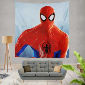 Spider-Man Into The Spider-Verse Movie MCU Wall Hanging Tapestry