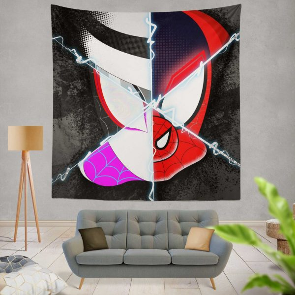 Spider-Man Into The Spider-Verse Movie Marvel Cinematic Universe Wall Hanging Tapestry