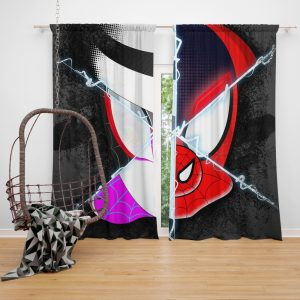 Spider-Man Into The Spider-Verse Movie Marvel Cinematic Universe Window Curtain