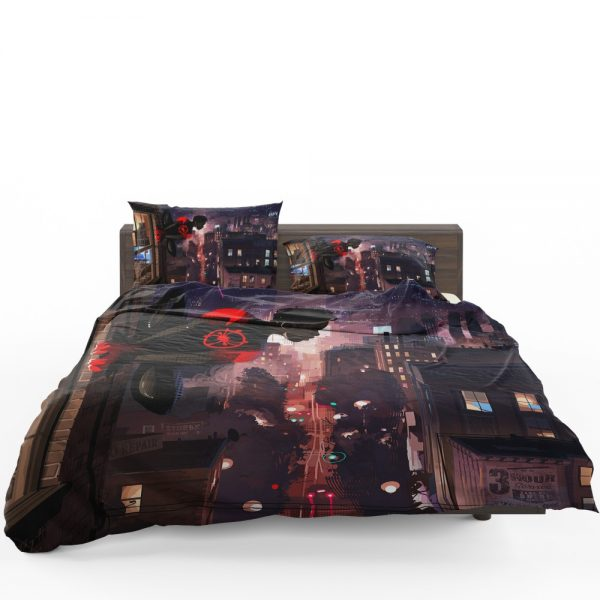 Spider-Man Into The Spider-Verse Movie Marvel Comics Miles Morales Bedding Set 1