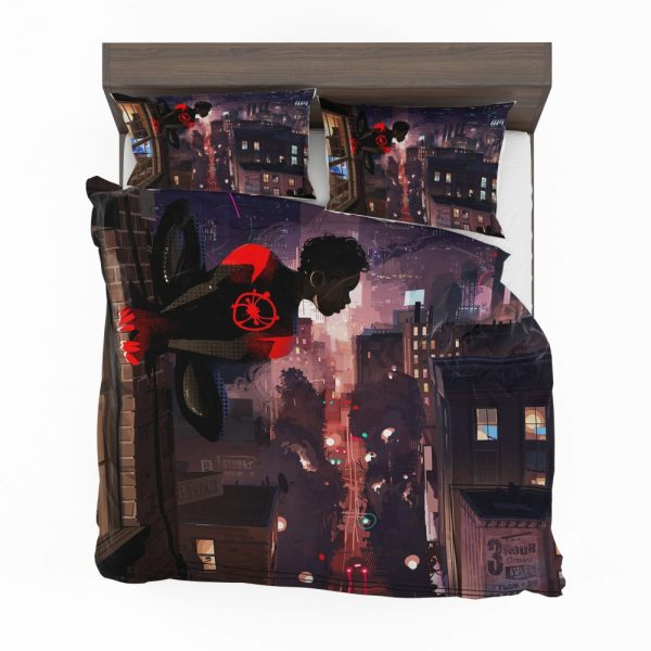 Spider-Man Into The Spider-Verse Movie Marvel Comics Miles Morales Bedding Set 2