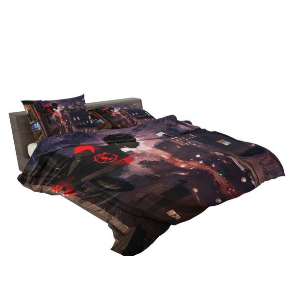 Spider-Man Into The Spider-Verse Movie Marvel Comics Miles Morales Bedding Set 3
