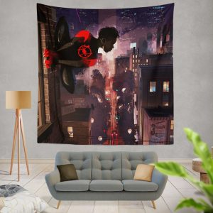 Spider-Man Into The Spider-Verse Movie Marvel Comics Miles Morales Wall Hanging Tapestry