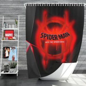 Spider-Man Into The Spider-Verse Movie Marvel MCU Universe Shower Curtain