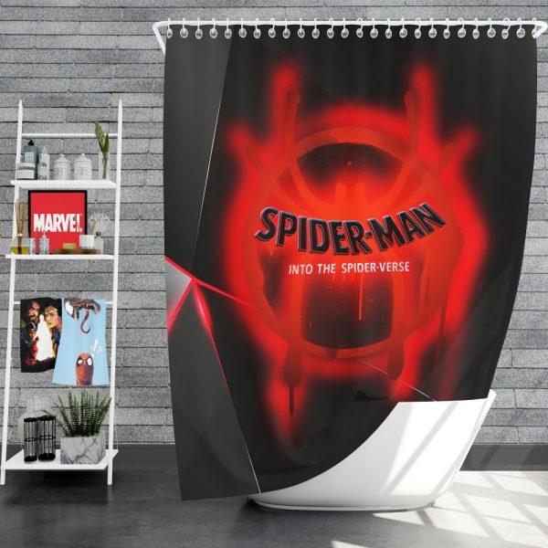 Spider-Man Into The Spider-Verse Movie Marvel MCU Universe Shower Curtain