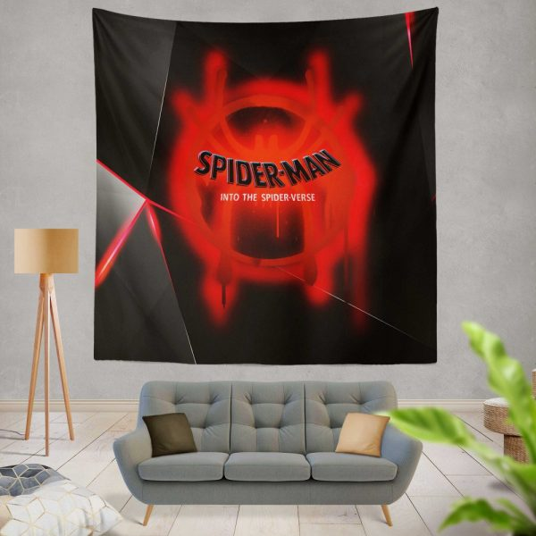 Spider-Man Into The Spider-Verse Movie Marvel MCU Universe Wall Hanging Tapestry
