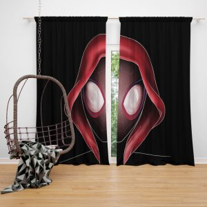 Spider-Man Into The Spider-Verse Movie Miles Morales MCU Window Curtain
