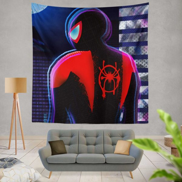 Spider-Man Into The Spider-Verse Movie Miles Morales Marvel Comics Wall Hanging Tapestry