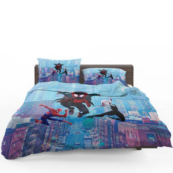 Spider-Man Into The Spider-Verse Movie Miles Morales Spider-Gwen Bedding Set 1