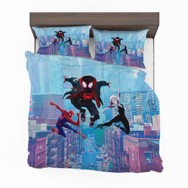 Spider-Man Into The Spider-Verse Movie Miles Morales Spider-Gwen Bedding Set 2