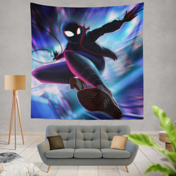 Spider-Man Into The Spider-Verse Movie Miles Morales Wall Hanging Tapestry