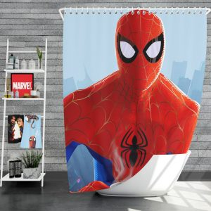 Spider-Man Into The Spider-Verse Movie Shower Curtain