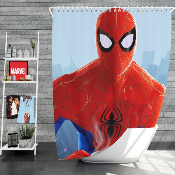 Spider-Man Into The Spider-Verse Movie Shower Curtain