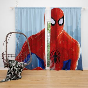 Spider-Man Into The Spider-Verse Movie Window Curtain