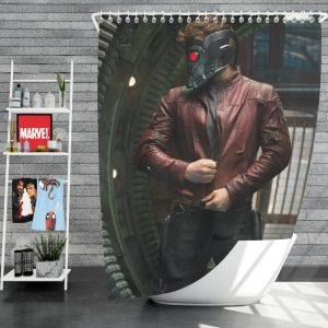 Star Lord Peter Quill Guardians of the Galaxy Movie Chris Pratt Shower Curtain