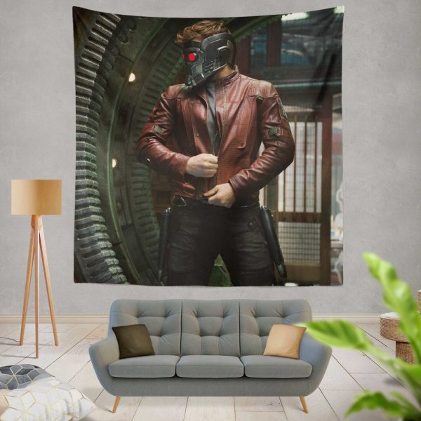 Star Lord Peter Quill Guardians of the Galaxy Movie Chris Pratt Wall Hanging Tapestry