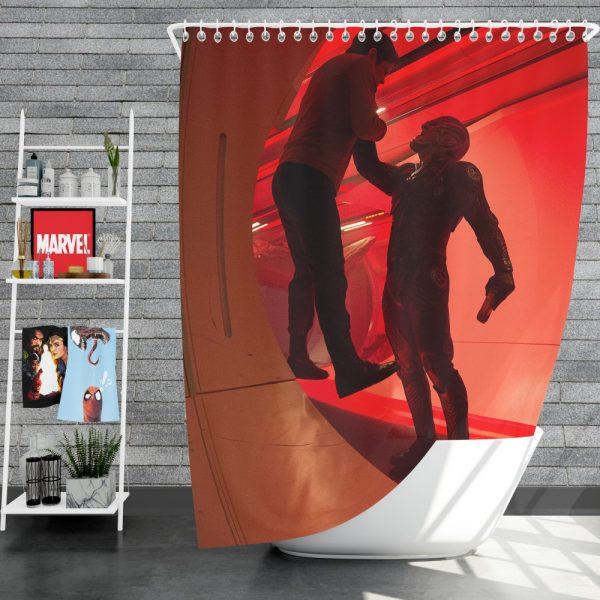 Star Trek Beyond Movie Chris Pine Idris Elba Shower Curtain
