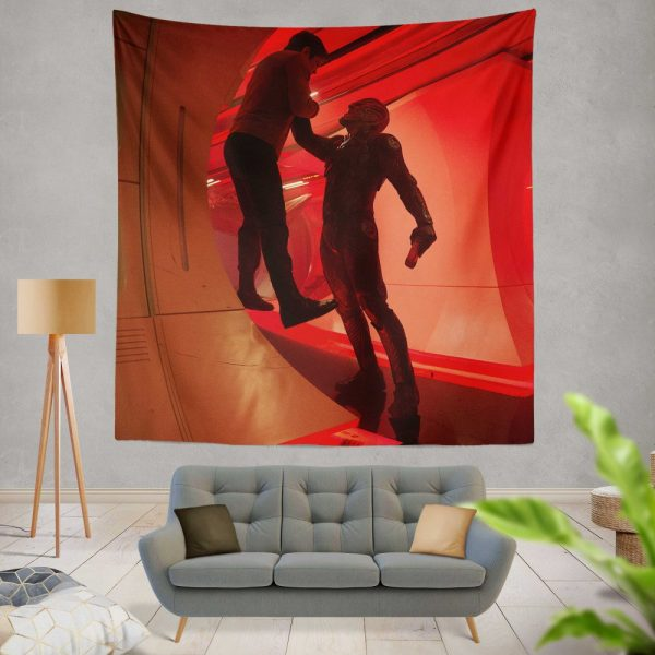 Star Trek Beyond Movie Chris Pine Idris Elba Wall Hanging Tapestry