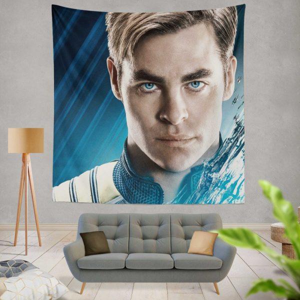 Star Trek Beyond Movie Chris Pine James T Kirk Wall Hanging Tapestry
