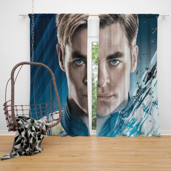 Star Trek Beyond Movie Chris Pine James T Kirk Window Curtain