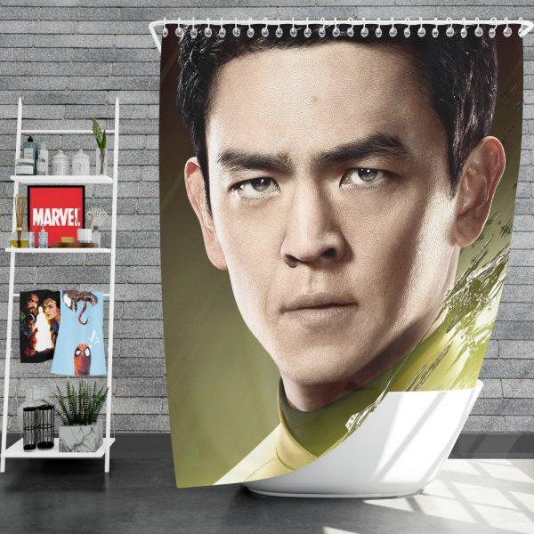 Star Trek Beyond Movie Hikaru Sulu John Cho Star Trek Beyond Shower Curtain