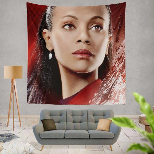 Star Trek Beyond Movie Nyota Uhura Star Trek Beyond Zoe Saldana Wall Hanging Tapestry