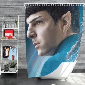Star Trek Beyond Movie Spock Zachary Quinto Shower Curtain