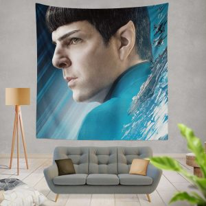 Star Trek Beyond Movie Spock Zachary Quinto Wall Hanging Tapestry