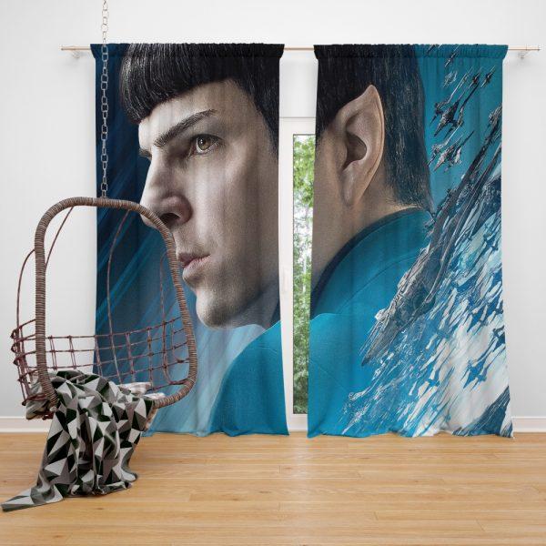 Star Trek Beyond Movie Spock Zachary Quinto Window Curtain