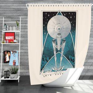 Star Trek Into Darkness Movie Starship USS Enterprise NCC-1701 Shower Curtain