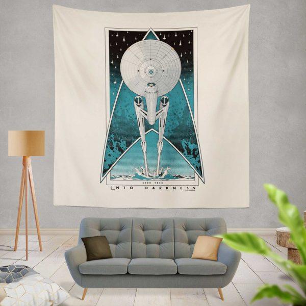Star Trek Into Darkness Movie Starship USS Enterprise NCC-1701 Wall Hanging Tapestry