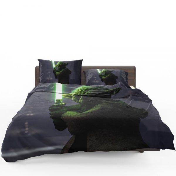 Star Wars Battlefront II 2017 Movie Yoda Bedding Set 1