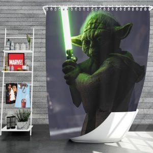 Star Wars Battlefront II 2017 Movie Yoda Shower Curtain